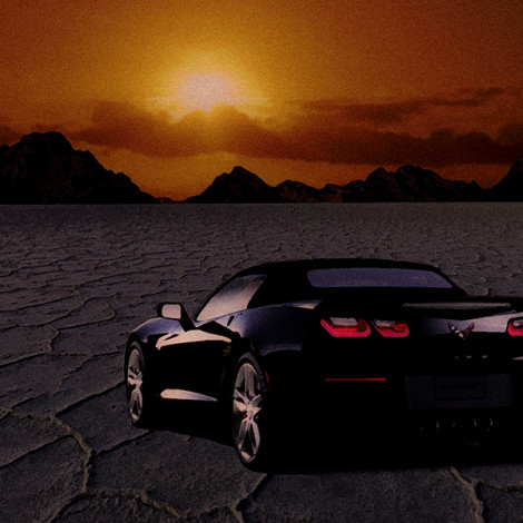 C7 on the Salt Flats